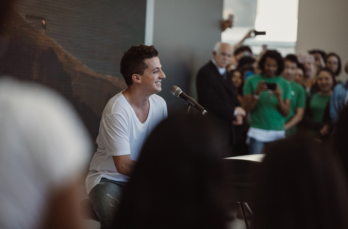 Today at Apple: Charlie Puth im Apple Union Square in San Francisco
