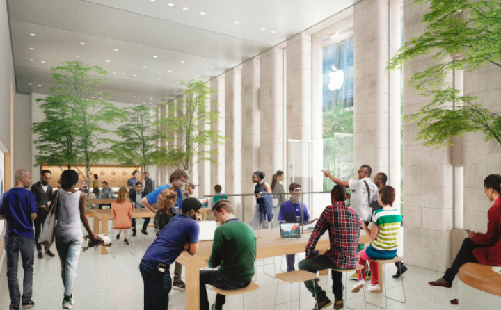 Entwurf für Apple Carnegie Library in Washington, D.C. — Illustration: Foster + Partners