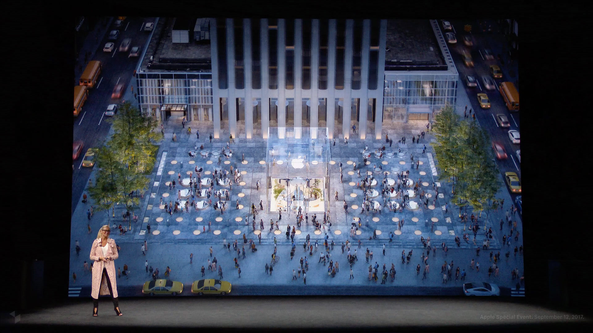 Angela Ahrendts beim Apple Special Event im Steve Jobs Theater: Apple Fifth Avenue