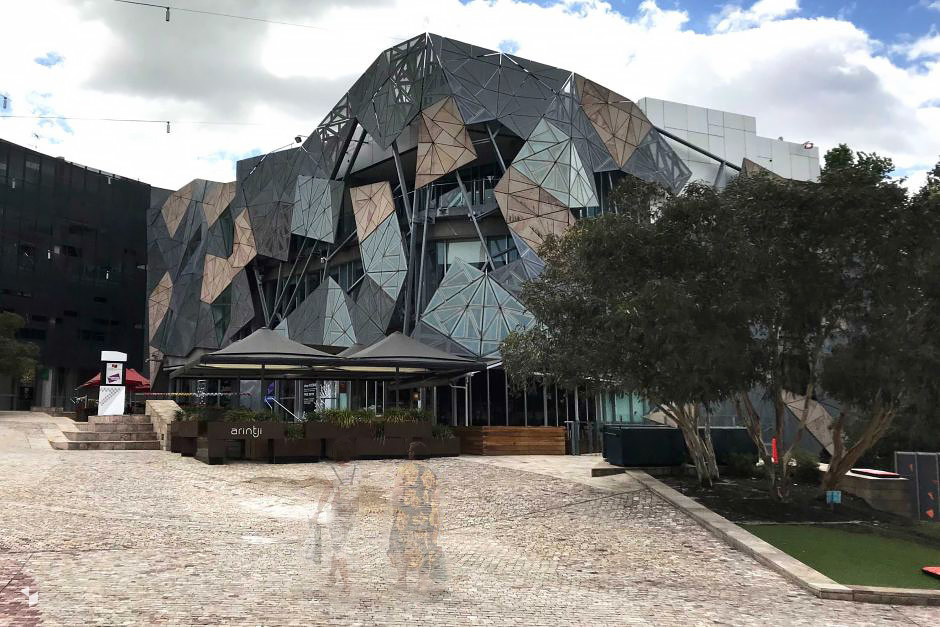 Yarra Building am Federation Square in Melbourne, Australien