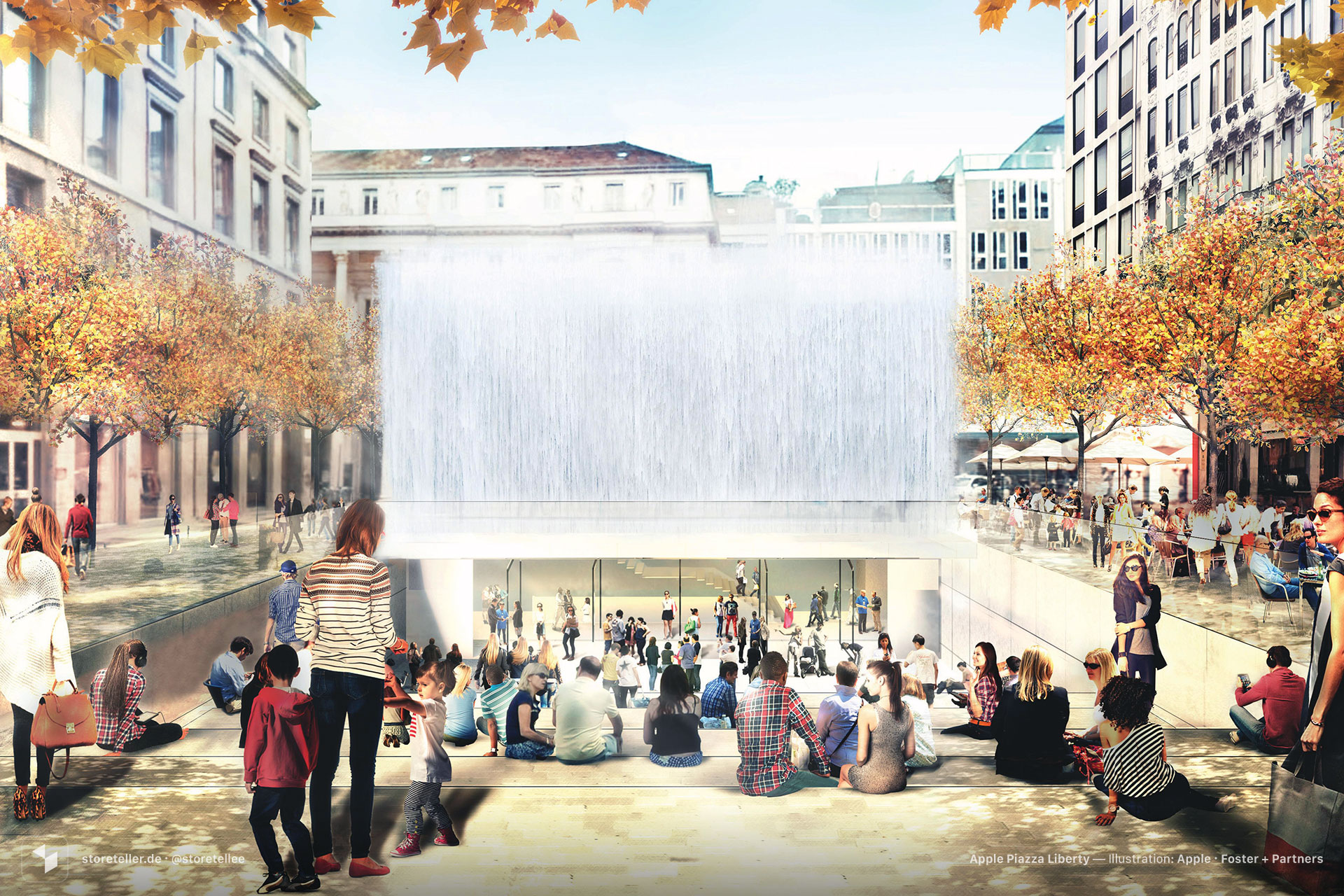 Apple Piazza Liberty, Mailand, Italien