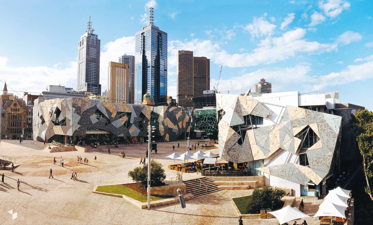 Federation Square in Melbourne, Australien