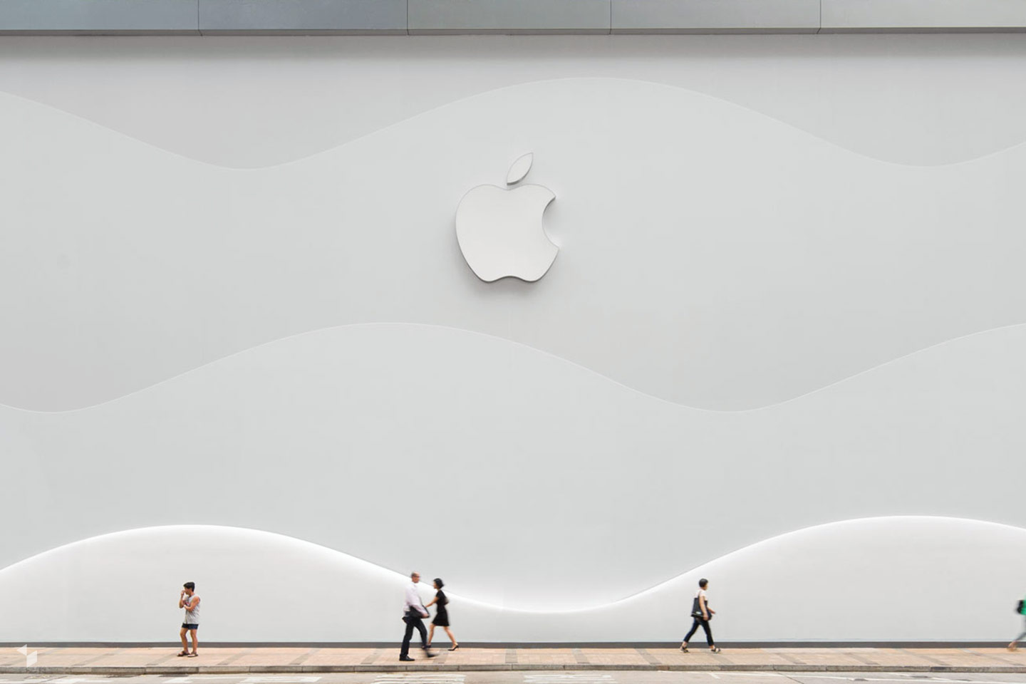 Apple Canton Road in Hong Kong eröffnete am 31. Juli 2015