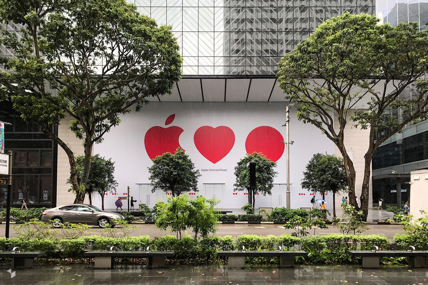 Apple Orchard Road in Singapur eröffnete am 27. Mai 2017